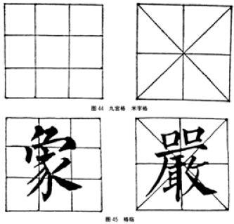 虽然有九宫格或米字格来确定笔画的位置,但是怎样起笔、运笔、回转